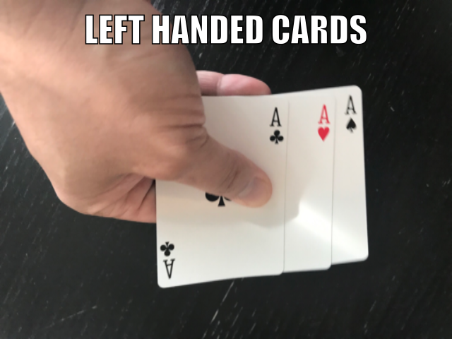 left handed cards