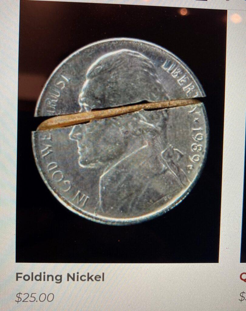 folding nickel coin trick